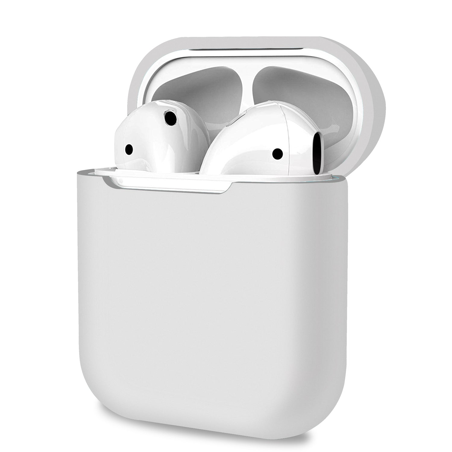 Apple AirPods 1 2 Case White Cover Skin Earphone Charge Silicone Case, Audio Accessories by TradeNRG