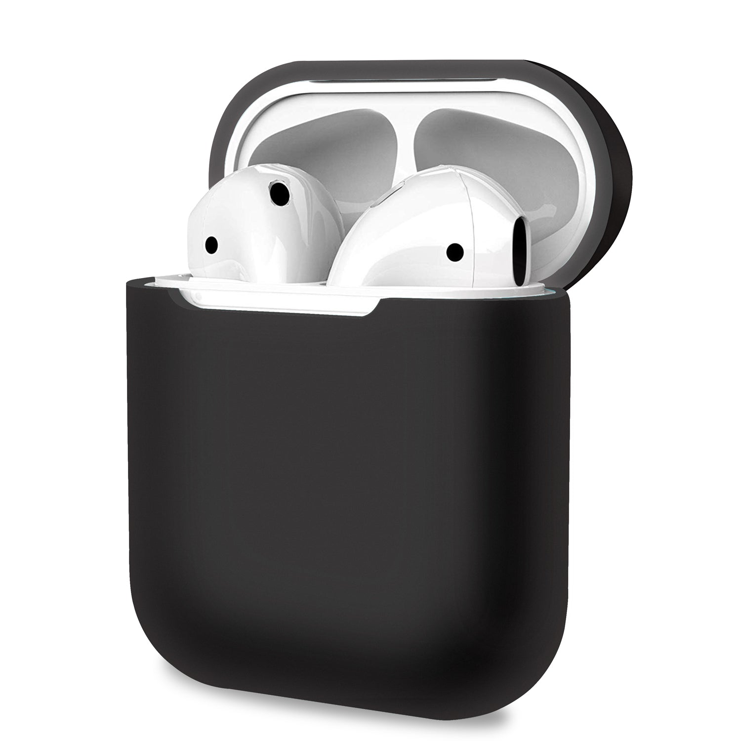 Black AirPods 1 2 Case Cover Skin Earphone Charge Silicone Case, Audio Accessories by TradeNRG