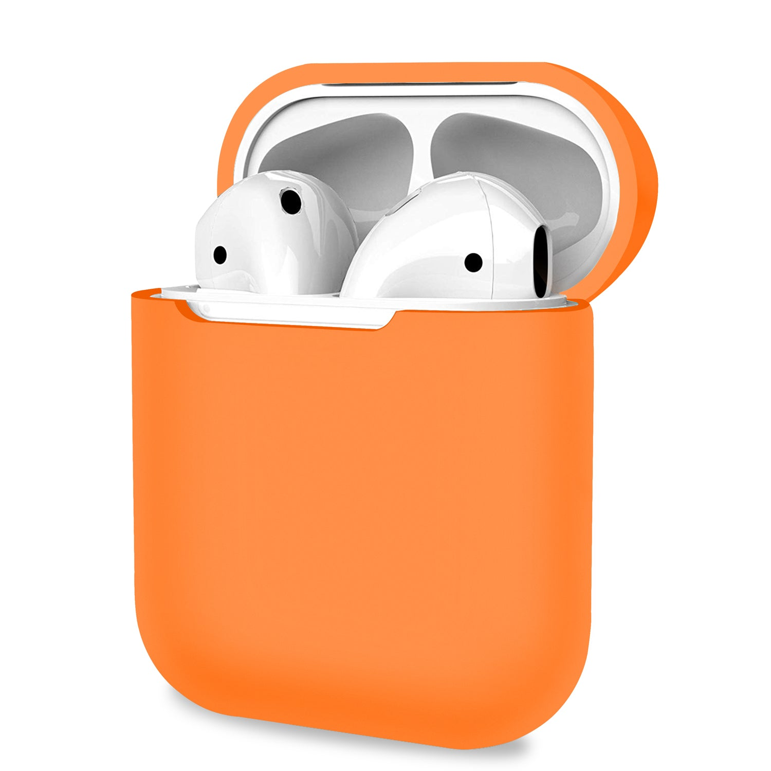 AirPods 1 2 Case Cover Skin Earphone Charge Silicone Case - Orange, Audio by TradeNRG