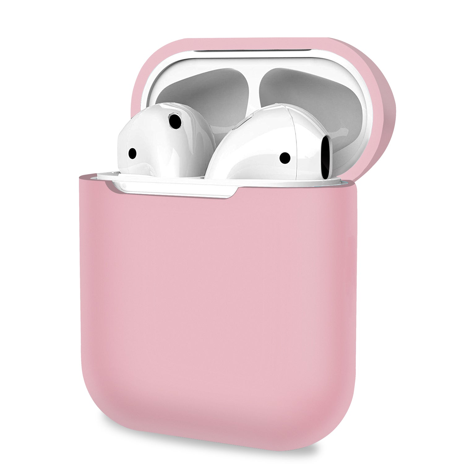 AirPods 1 2 Case Cover Skin Earphone Charge Silicone Case Light Pink, Audio Accessories by TradeNRG