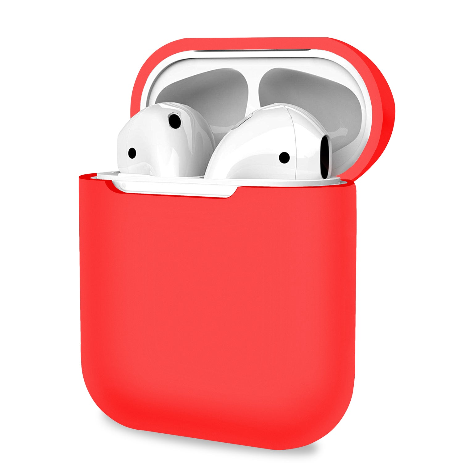 Apple AirPods 1 2 Case Red Cover Skin Earphone Charge Silicone Case, Audio Accessories by TradeNRG