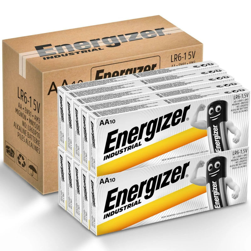 Energizer 2029 MN1500 LR6 Industrial Battery AA Alkaline Batteries 100