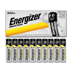 10x Energizer AAA Industrial Battery Alkaline MN2400 1.5V LR3 Long Lasting