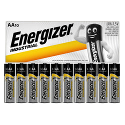 10x Energizer AA Battery Alkaline Industrial Batteries MN1500 1.5V LR6