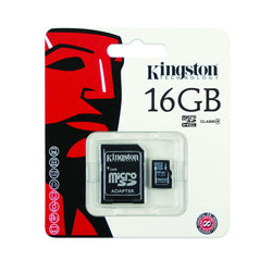 Kingston 16GB Class 4 Micro SD Card with SD Adapter