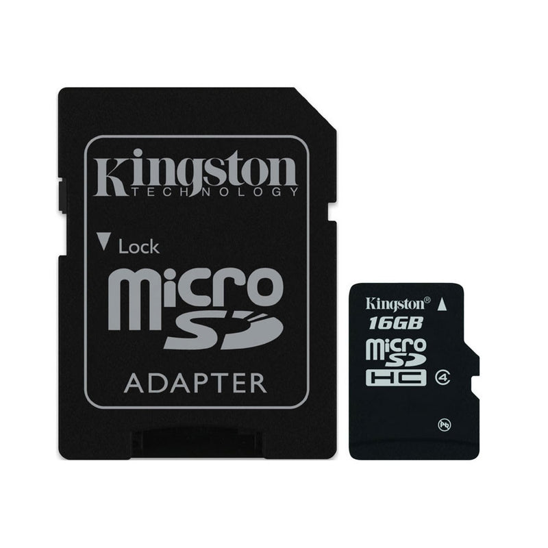 Kingston 16Gb Class 4 Micro Sd Card Sdhc Memory Card With Sd Adaptor