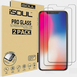 ISOUL [2 Pack] Screen Protector for Apple iPhone XS Max Tempered Glass Film 9h HD Premium 0.26mm Shatterproof Protection 6.5 Inch Strong Case Friendly 3D Touch - TradeNRG UK