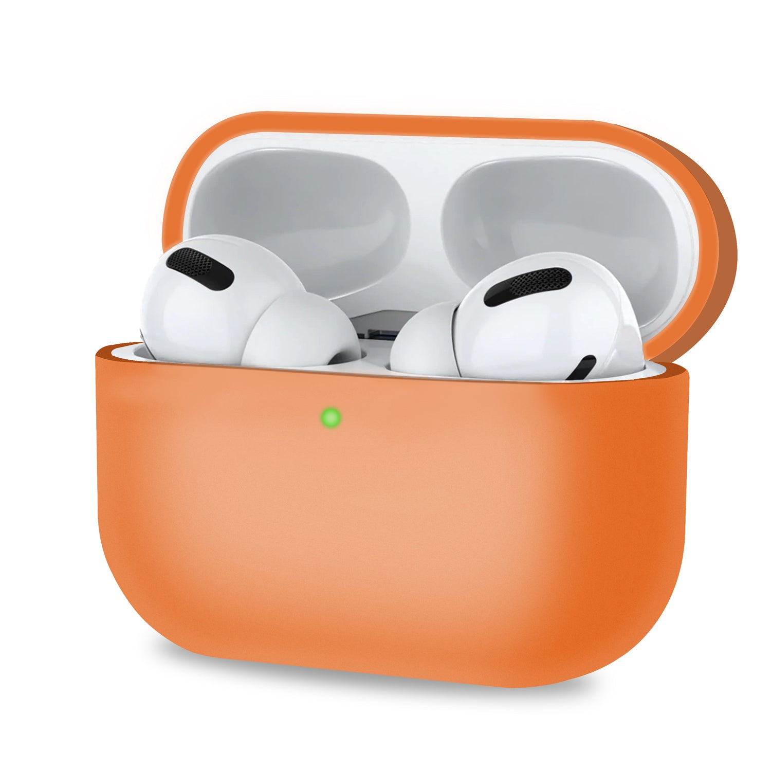 Orange Protective Cover for Airpods Pro Case with Front LED Visible, Audio by TradeNRG