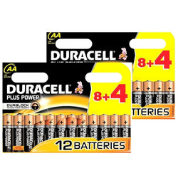 24X Duracell Plus MN1500 AA Batteries Long-Dated (Pack of 24)