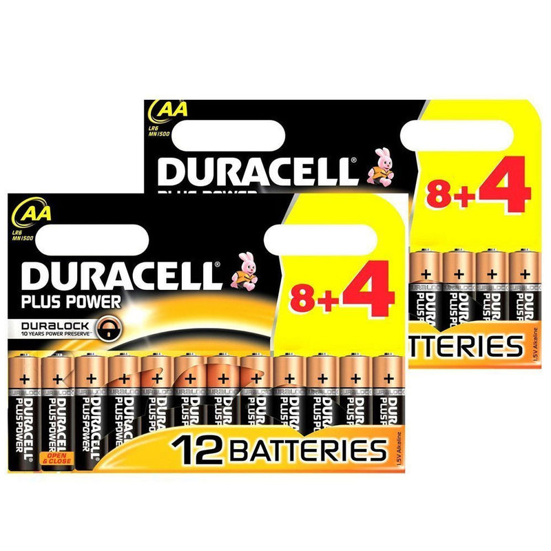 24x Duracell Plus Power AA Alkaline Battery MN1500 Long Dated Battery-Battery-TradeNRG UK