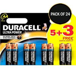 Duracell 8 Pack Ultra Power AA 5+3  Mx 1500B Battery Packs