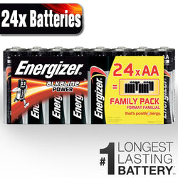 24 x Energizer AA Power Alkaline Batteries LR3 MN1500 STILO Battery Long Expiry-Battery-TradeNRG UK