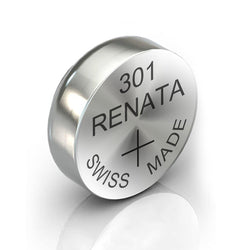 8x Renata 301 Watch Battery Swiss Made Silver Button Coin 1.55V SR43SW-Battery-TradeNRG UK
