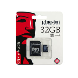 Kingston 32GB Class 4 Micro SD Card with SD Adapter