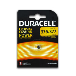 Duracell 377/376 Watch Battery SR626SW AG4 Silver Oxide 1.5V Coin Cell