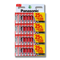 40x PANASONIC AA MN1500 Zinc Carbon Battery LR6 1.5V Long Expiry 2022-Battery-TradeNRG UK
