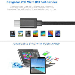Reversible Usb 2.0 To Micro Data Sync Charge Cable Lead For Samsung Htc Lg Sony-USB CABLE-TradeNRG UK