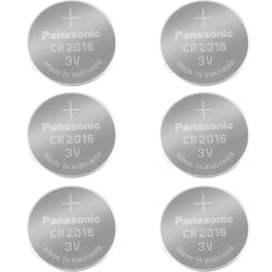 Panasonic CR2016 Lithium Coin Batteries Pack of 6 Batteries
