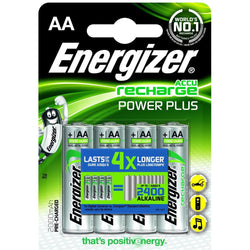 4 x Energizer AA Rechargeable Battery Recharge Plus Batteries 2000 mAh Pre Charged NiMH LR6 - Battery - Energizer