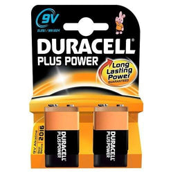 2x Duracell 9V PP3 Plus Power MN1604 LR22 Smoke Alarm Economic Battery