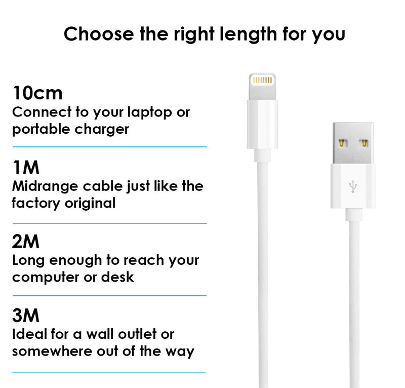 Iphone Charger Usb Data Sync & Charge Lightning Cable For Apple Iphone 7 6 Plus - TradeNRG UK