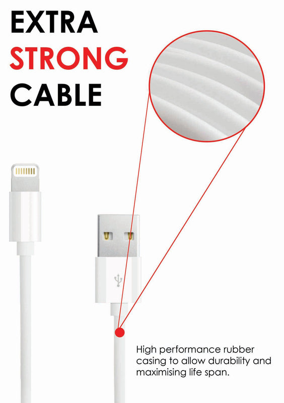 iPhone Charger USB Data Sync & Charge Lightning Cable for Apple iPhone 7 6 Plus - USB CABLE - ISOUL	 - 11