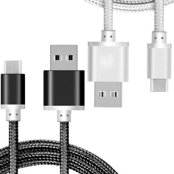 iSOUL Nylon Braided USB Fast Charging Cable , USB Type C Cable To USB 2.0 Cable (2-Pack) - TradeNRG UK