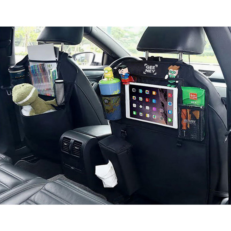 2x Back Seat Car Boot Organiser Multi-Pocket Cargo with Tissue Box Car-Car Boot Organisers-TradeNRG UK