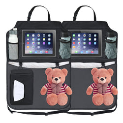 Car Back Seat Organiser & Back seat Storage & Tablet, iPad, Galaxy & DVD Holder