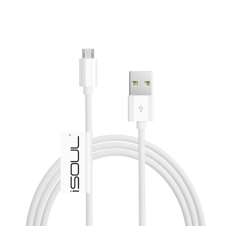 Heavy Duty Extra Long Fast Charge, Quick Charging Micro USB Extension Data Sync High Speed Charger Cable - 10 CM 1 Metre 2 Metre 3 Metre - Black White