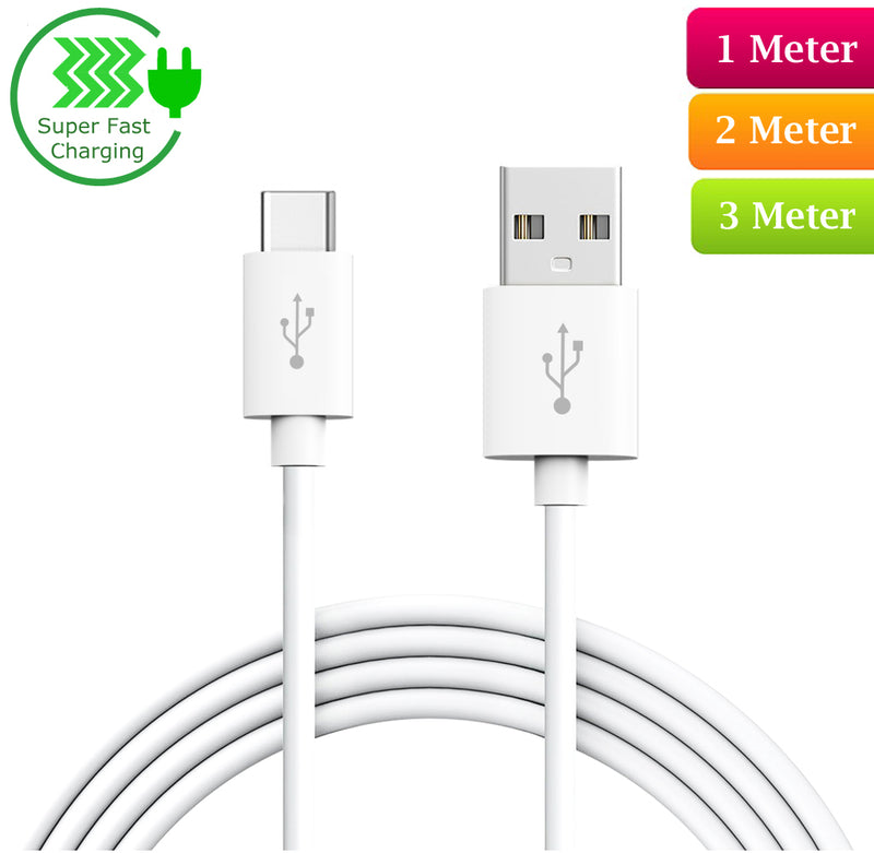USB Type-C to USB-A 2.0 Male Cable | C Type Phone Charger Extension Cable 10cm 1m 2m 3m
