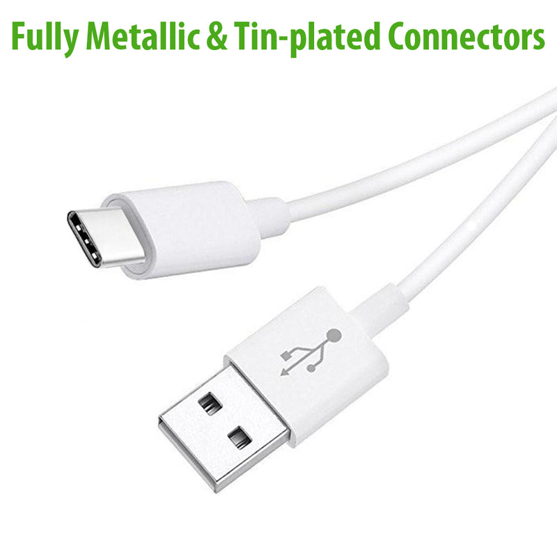 USB Type-C to USB-A 2.0 Male Cable | C Type Phone Charger Extension Cable 10cm 1m 2m 3m - TradeNRG UK