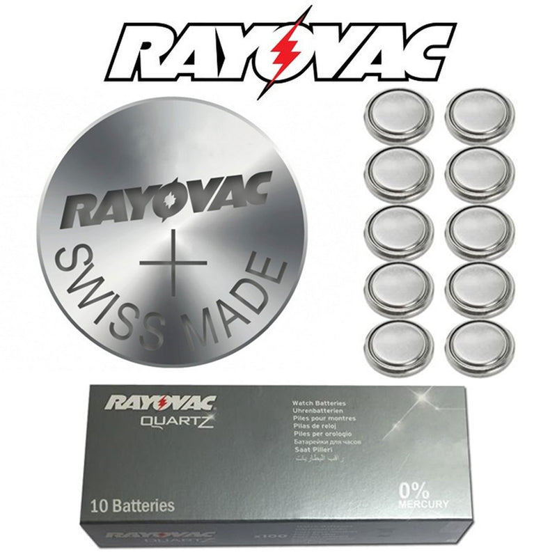 Genuine Rayovac Renata Silver Oxide Watch Batteries All Sizes 0% Mercury
