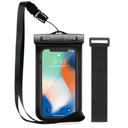 Premium Quality Universal Smartphone Waterproof Case Black in UK 2020-Case / Cover-TradeNRG UK