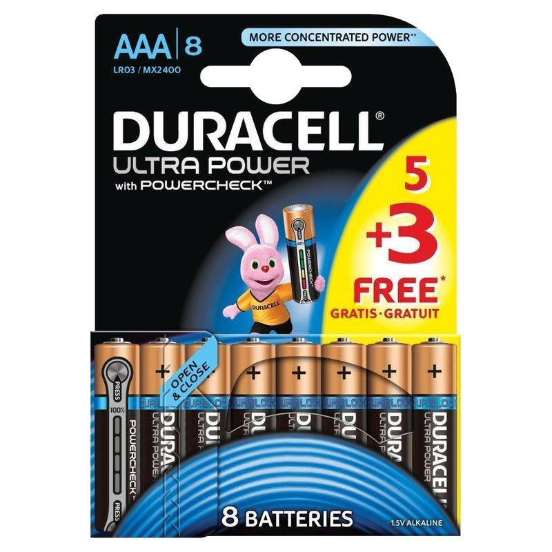 1X Duracell Ultra Power AAA Batteries