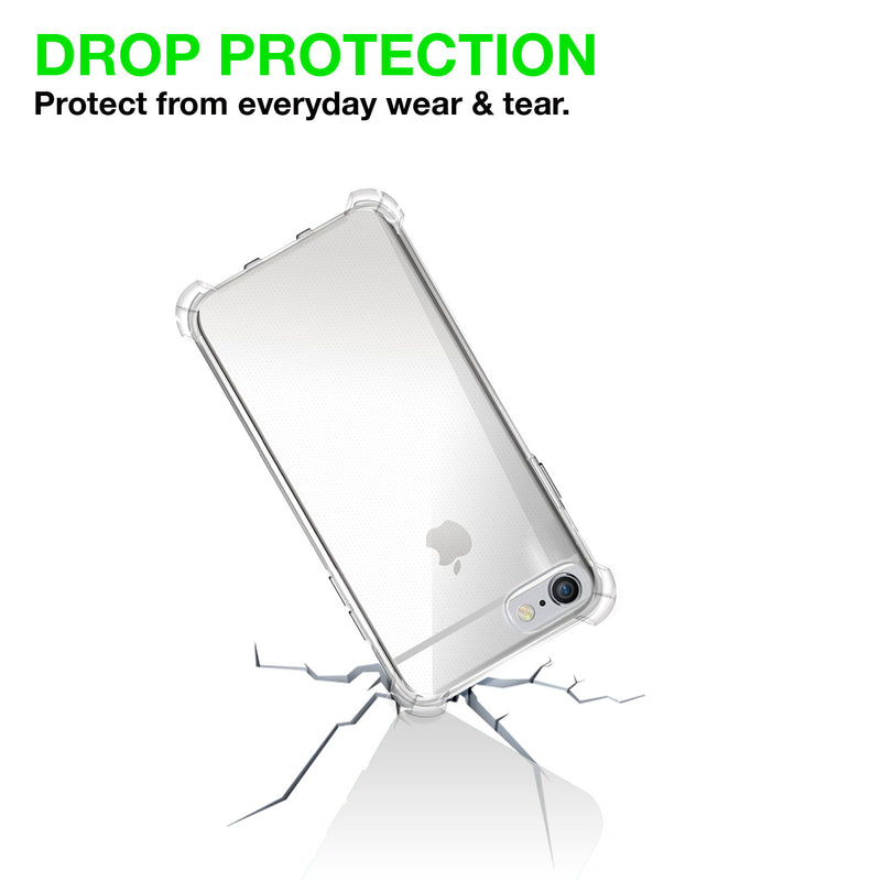 Iphone 6/6s plus Silicon Gel Air Cushion case Back cover - Transparent - TradeNRG UK