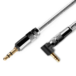 iSOUL 3.5 Jack Audio 1 Meter Metal Aux Cable Black