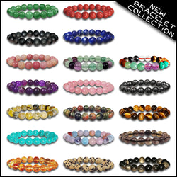 New Beads Bracelet 7 Natural Stone Lava Bracelet Diffuser Multi Color Gemstone-Bracelet-TradeNRG UK