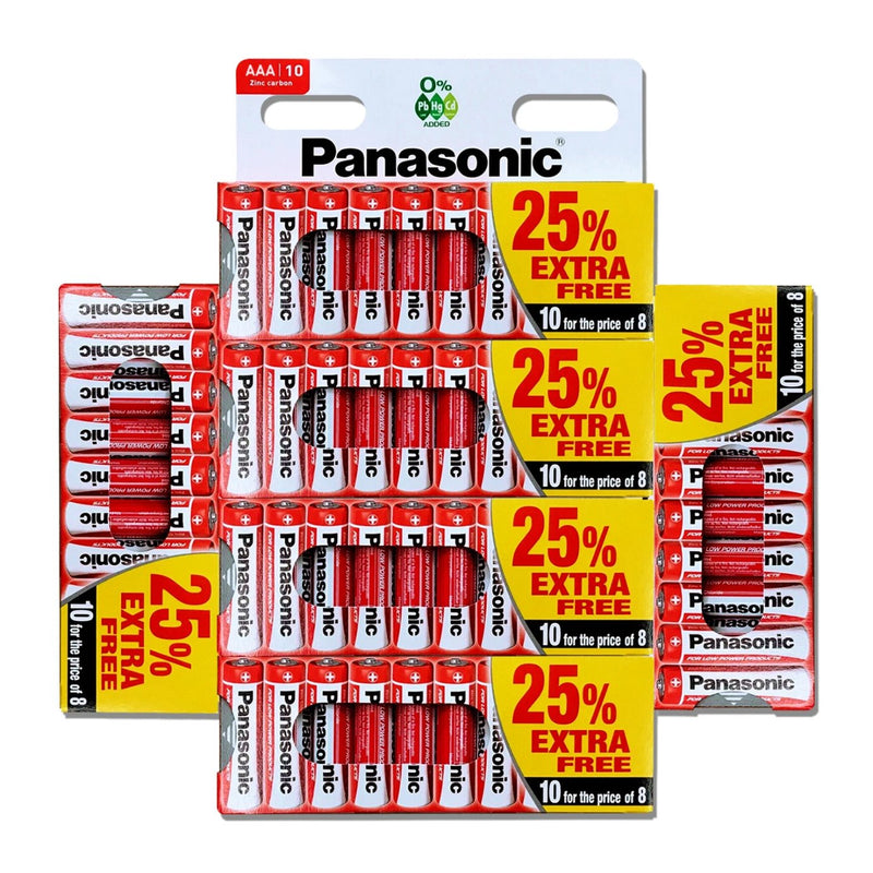 60x Genuine PANASONIC AAA Zinc Carbon Battery LR03 1.5V MN2400 Battery