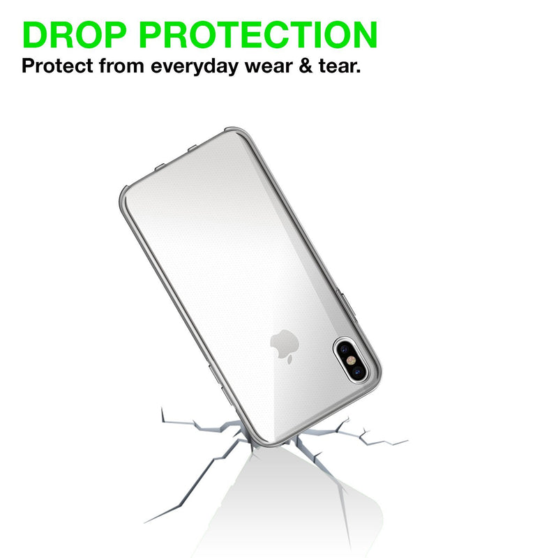 Iphone X Transparent Gel Case Cover with iSoul Stylus Touch Pen-Case / Cover-TradeNRG UK