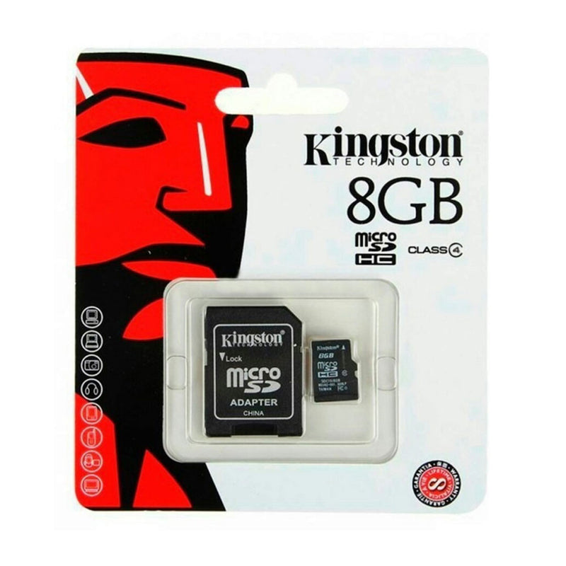 Kingston 8GB Class 4 Micro SD Card with SD Adapter
