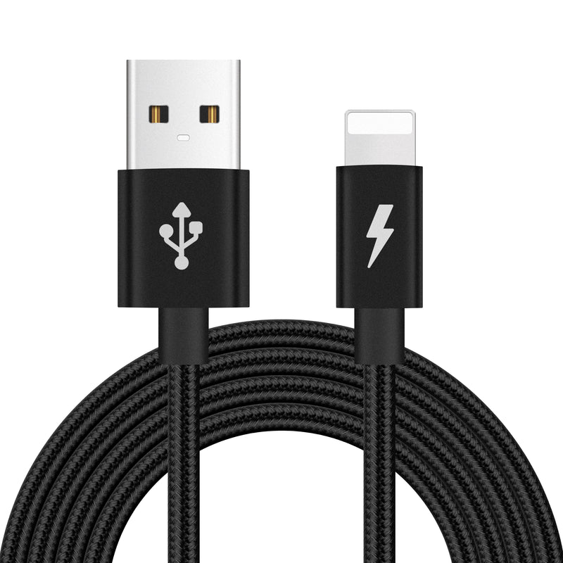 Long Braided USB Quick Charger Data Charging Cable Lead For iPhone 6s 7 8 6 5s X - TradeNRG UK