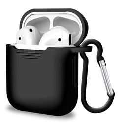 1 × Airpods Silicon Case (Airpods NOT included) 1 × Key-chain Hook - Black