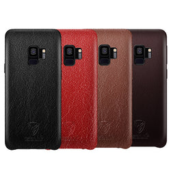 Samsung S9 Leather Back Case Red