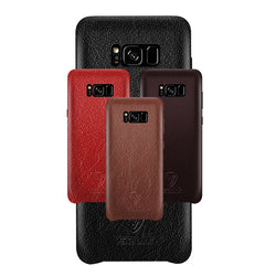 Samsung S8 Leather Back Case Coffee