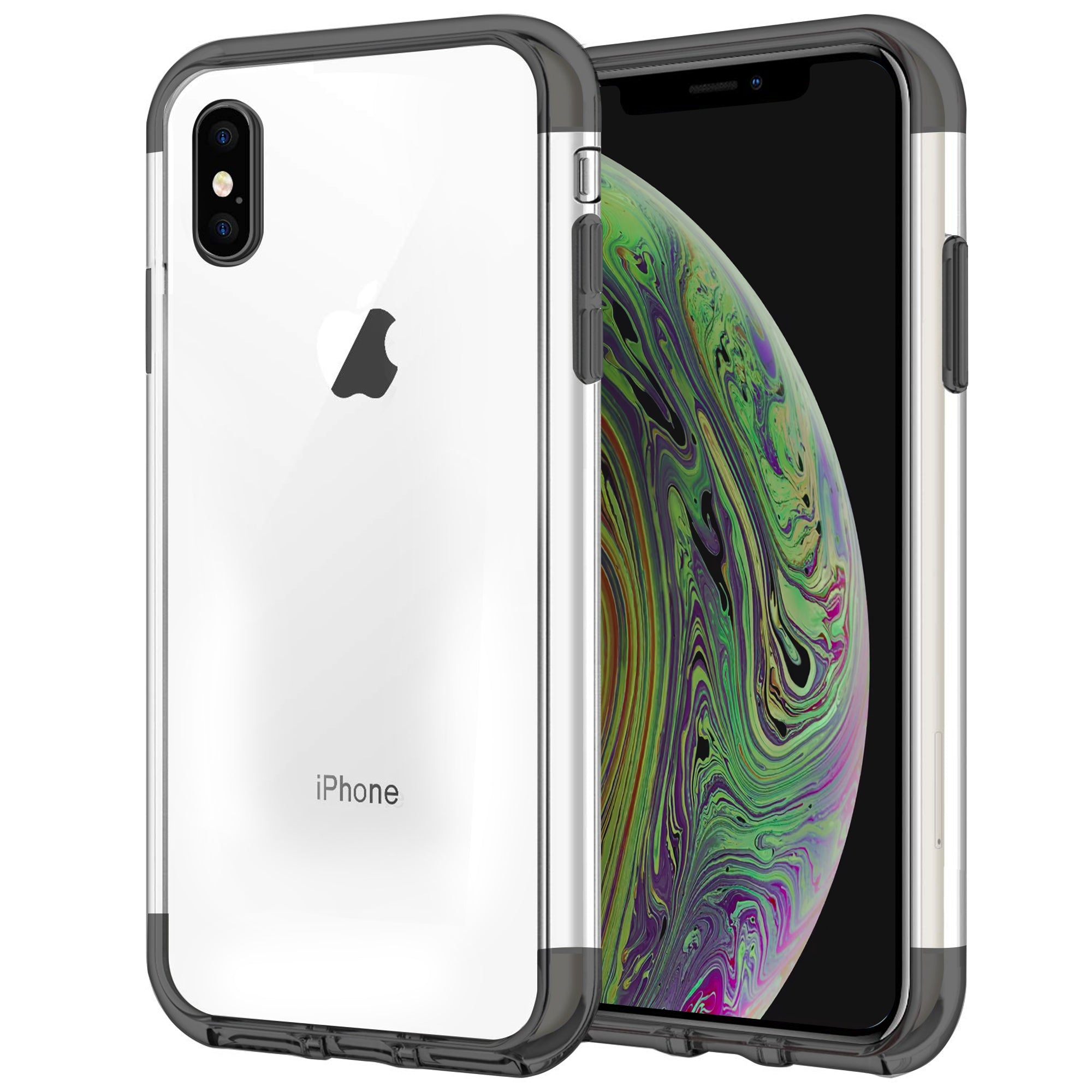 Case for iPhone XS Max Shock Proof Soft TPU Silicone Phone Clear Slim Cover by  TradeNRG