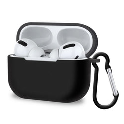 Apple AirPods Pro Case (3rd Gen) Silicone Cover with Carabiner - Black-Airpods Case-TradeNRG UK