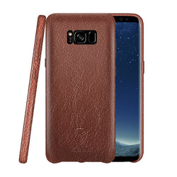Samsung S8 Genuine Leather Back Case Brown