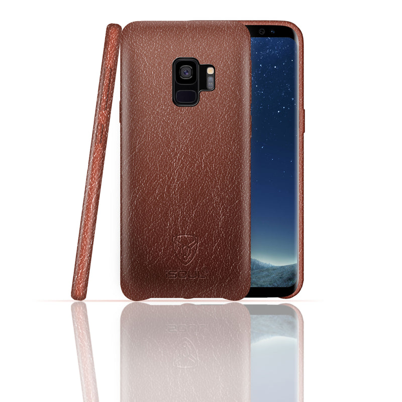 iSOUL Samsung S9 Genuine Leather Back Case Brown