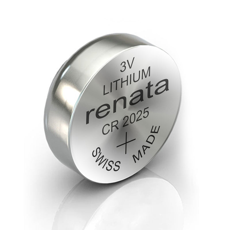 2X Renata CR2025 Watch Battery Swiss Made Batteries CR2025 Dl2025 Na 280-205 Sb-T14 2025 Lithium 3V Coin Cell